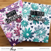 Old and New Birthday Card: A Blog Named Hero Challenge